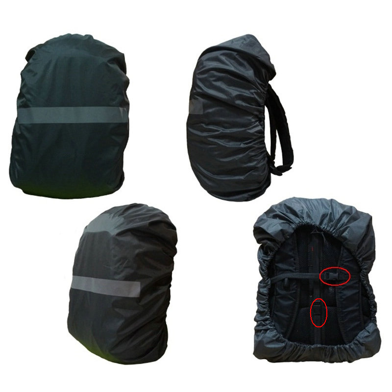15-80L Adjustable Waterproof Backpack Rain Cover For Climbing Hiking Backpack Reflective Strips Protable Outdoor Sport Bag Cover