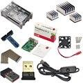 Raspberry Pi 3 Модель B Нубов Starter Kit с Pi 3 Доска + радиаторы + Акриловый Чехол + Вентилятор Охлаждения + GPIO Кабель Доска + Wi-Fi ключ
