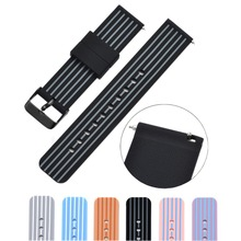 все цены на Bemorcabo 18mm 20mm 22mm Soft Silicone Watch Band with Quick Release Pins High Quality Watch Straps w/ Adjustable Metal Clasp онлайн