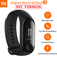 Original Xiaomi Mi band 3 NFC Miband 3 Smart Wristband Heart Rate Monitor Bracelet With OLED Smart Bracelet Band For Miband 2