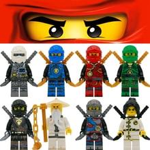 8 Pcs NINJA Lloyd Cole Jay Kai Zane WU NYA Herói Building Block Figura de Ação Filme Toy Compatível Com LegoINGly NinjagoINGly conjunto