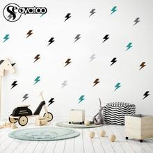 Modern Lightning Vinyl Wall Sticker Decal Kids Baby Bedroom Nursery Home Window 24pcs Stickers