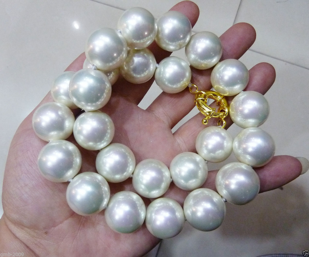 16mm 17inches blue  South Sea Shell Pearl Necklace AAA+