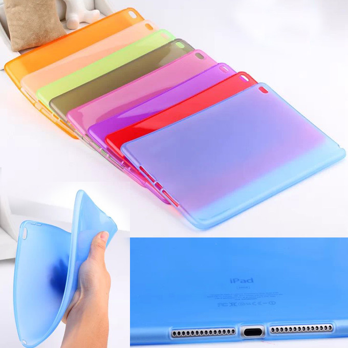 Soft Scrub Transparent clear TPU silicon Back Protective Case Cover For Apple iPad Air 2 9.7 inch For ipad6 Tablet  Y2C42D 2017 silicon slim soft tablet case for ipad air 1 rubble protective funda cover for apple ipad air 1 2 for ipad 5 6 case capa