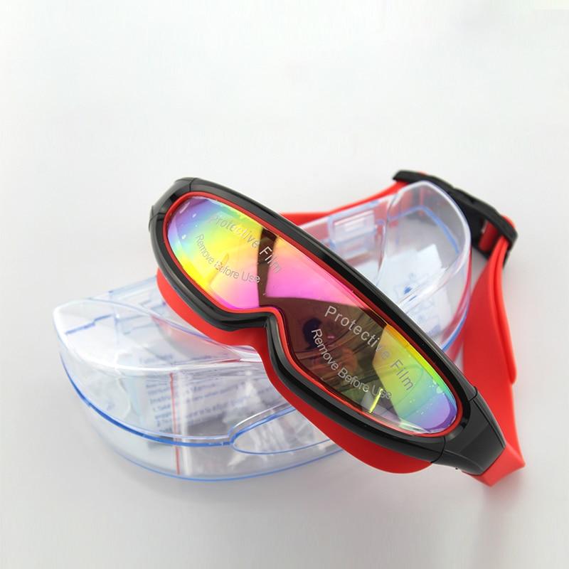 Big Frame Anti Fog Adjustable Pating Adult Swimming Goggles Outdoor Men Women Swim Eyewear Professional Waterproof Swim Glasses