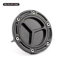 Motocycle Accessories CNC Aluminum Fuel Tank Cap Cover Black For KAWASAKI EX250R NINJA 250R 300 Z250 Z300