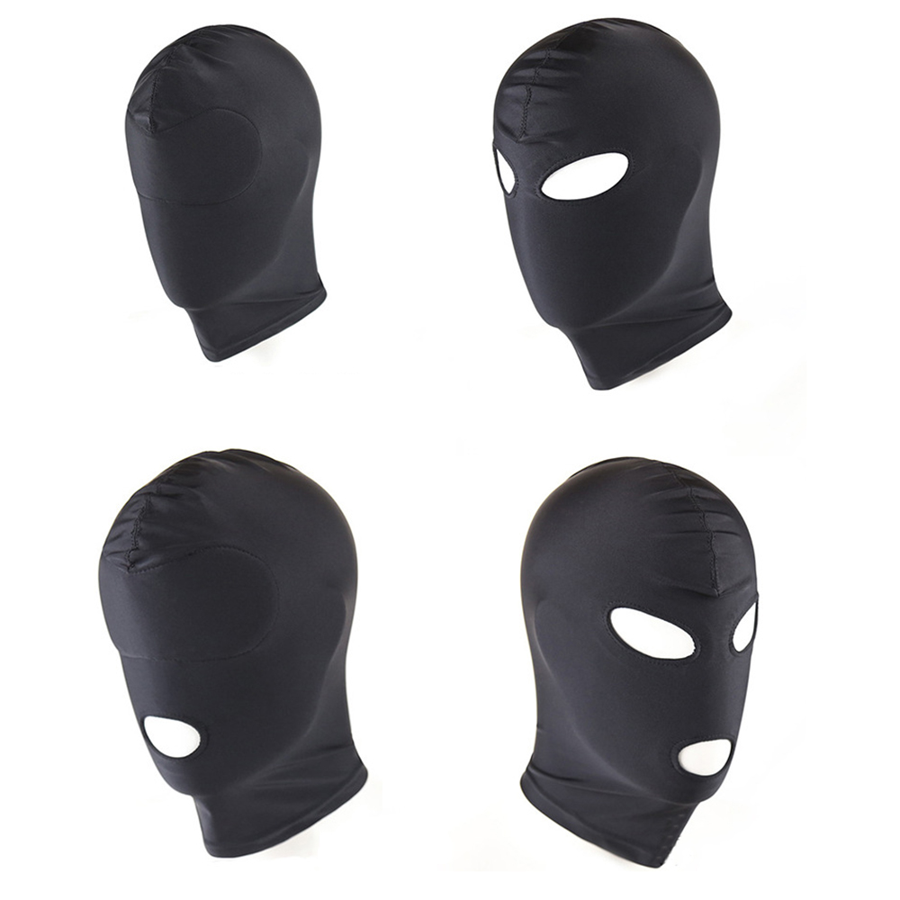 4 Style Fetish Mask Hood Sexy Toys Open Mouth Eye Bondage Party Cosplay Slave Punish Headgear Adult Game Sex Products