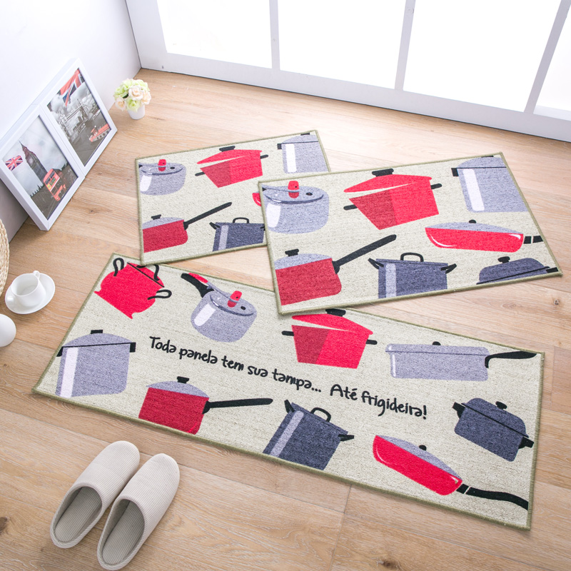 Nice RUG Slip Resistant Kitchen Carpet Cartoon Cooking Pattern Floor Mats  Bedroom Living Room Parlor