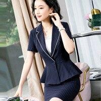 Womens formal suits Workwear office uniform designs woman office suits blazers feminino summer elegant business skirt suits