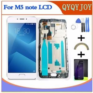 Image 1 - AAA جودة LCD ل Meizu m5 ملاحظة M621Q M621M M621C M621H شاشة عرض + محول الأرقام شاشة تعمل باللمس ل MEIZU M5 ملاحظة