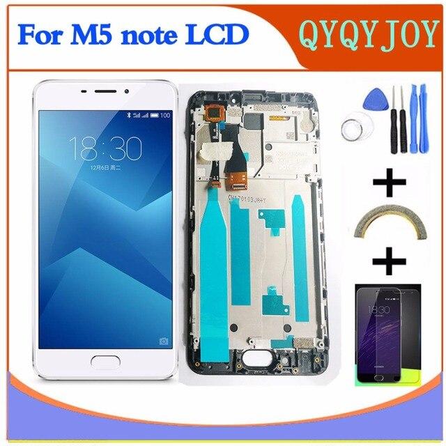 AAA جودة LCD ل Meizu m5 ملاحظة M621Q M621M M621C M621H شاشة عرض + محول الأرقام شاشة تعمل باللمس ل MEIZU M5 ملاحظة