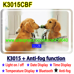 Image 4 - K3015CBF 터치 스위치 패널 시간 날짜 온도 디스플레이 안티 안개 화장실 욕실 캐비닛 LED 라이트 미러 재생