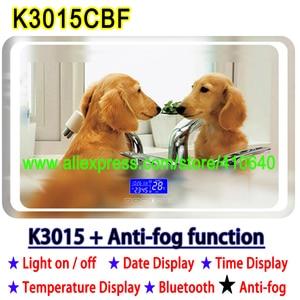 Image 4 - K3015CBF מגע מתג פנל זמן תאריך טמפרטורת תצוגת אנטי ערפל רחצה אמבטיה ארון LED אור מראה שיפוץ