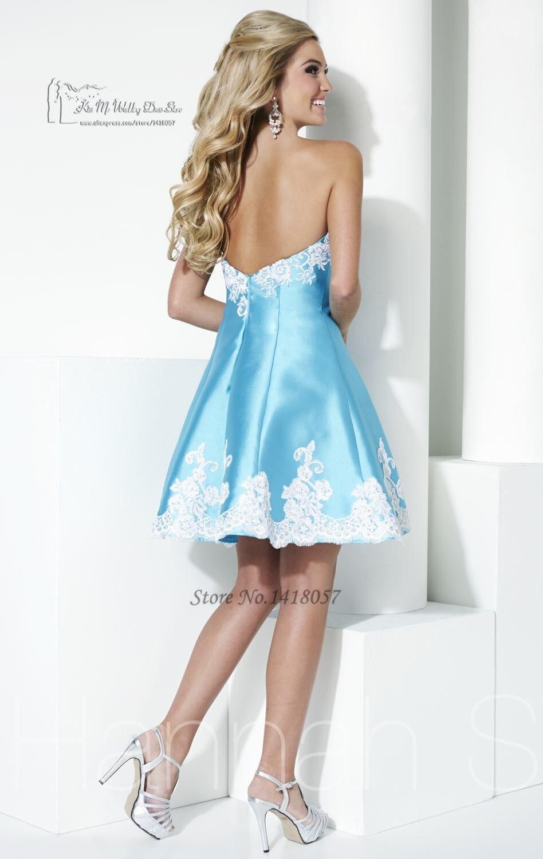Vestidos Para Formatura Curto Lace Blue Homecoming Dresses 2017 ...