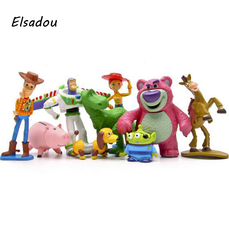 Elsadou 9pcs/set Toy Story 3 Full Collection Sheriff Woody