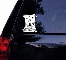 Tshirt Rocket Pit Mom Decal - Bull W/Ball Sticker Pitbull Dog Car Laptop Window, Mirror (6,White)