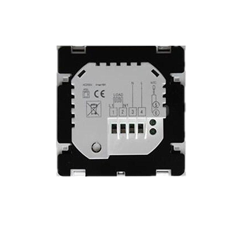 Thermostat intelligent noir/blanc WiFi Android et iOS App contrôle hebdomadaire Programmable température ambiante chaude contrôleur AC200V-240V - 3