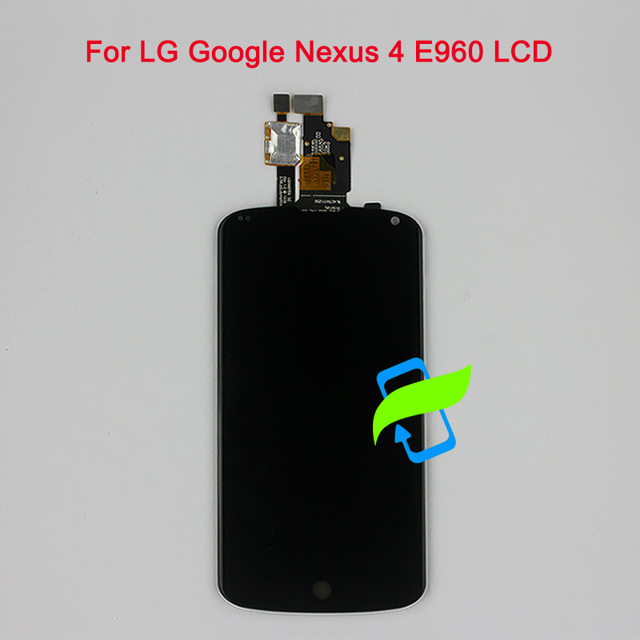 """4.7""""Original Display For LG Google Nexus 4 E960 LCD Touch Screen Digitizer Assembly with Frame For LG Nexus 4 E960 LCD Display"""