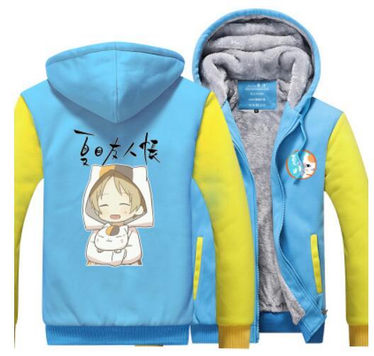 Natsume Yuujinchou Nyanko Sensei chat Natsume livre des amis polaire épaissir veste à capuche d'hiver veste costume cosplay manteau
