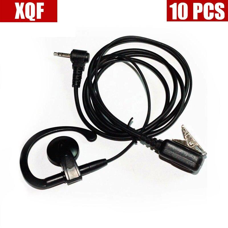 Xqf 10 pçs orelha-clip fone de ouvido para motorola talkabout rádio t6210 t6220 t6222 t6250 t6300