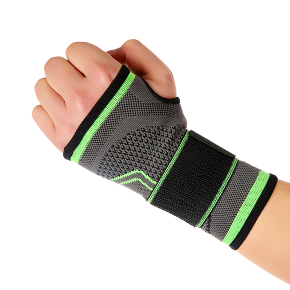 Mumian 3D Weaving Compression Wrist Support Brace Fitness Yoga Wrist Palm Support Gym Badminton Weightlifting Palm Pad Protector