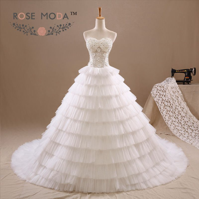 Online Buy Wholesale tulled tiered skirt wedding dress from China ...