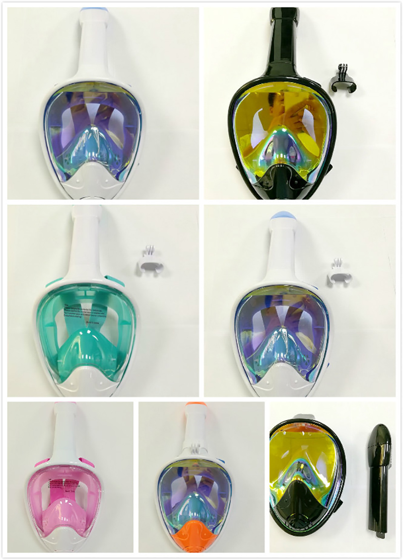 2018 masque de plongée chaude masque de plongée sous-marine Anti-buée masque de plongée en apnée visage complet femmes hommes natation tuba équipement de plongée
