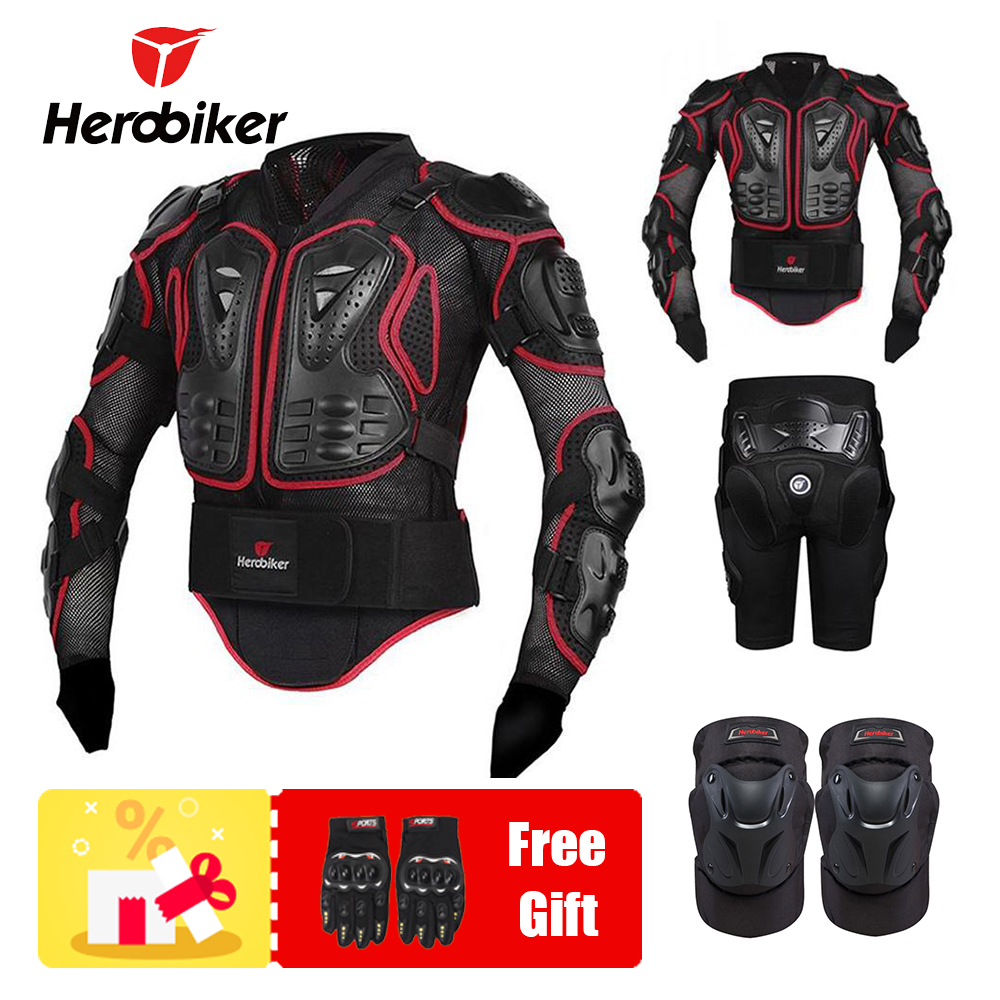 HEROBIKER Motorcycle Jacket Protection Armor Motorbike Motocross Equipment Racing Body Armor Moto ptotective Gears Combination herobiker motorcycle protection motorbke suit armor moto gear motocross armor full body racing protecto motocross clothing