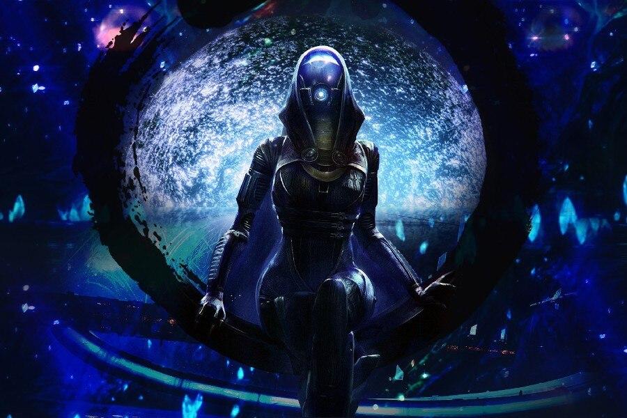 ᐂMass Effect 1 2 3 Tali\'Zorah video game poster silk Fabric ...