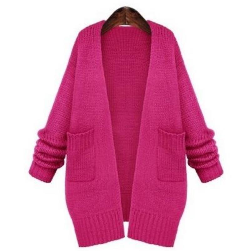 new sweater jacket womens long loose sweater women cardigan.