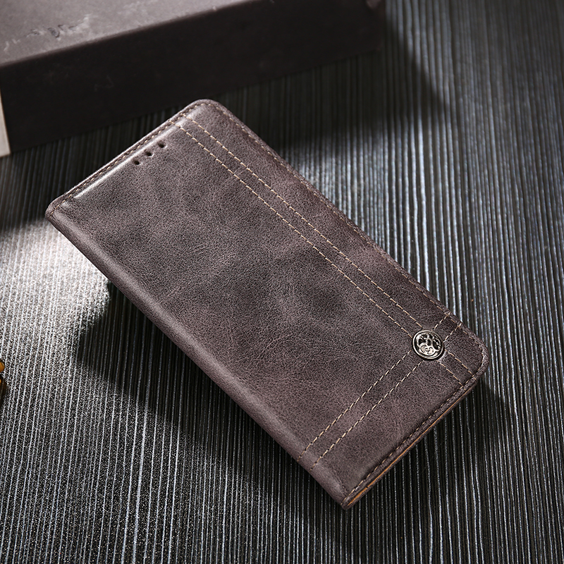 For Xiaomi Pocophone F1 Case Without Magnetic Retro Luxury Leather Wallet Flip Case for Xiaomi Pocophone F1 Cover Coque Funda