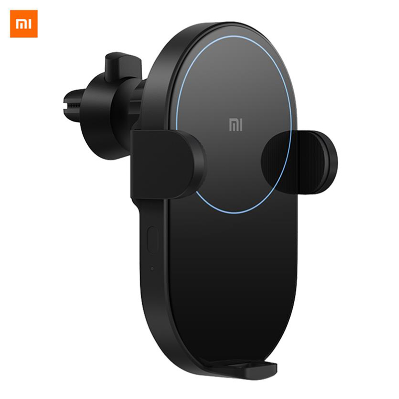 Original Xiaomi Wireless Car Charger 20W Max Electric Auto Pinch 2 5D Glass Ring Lit Charging