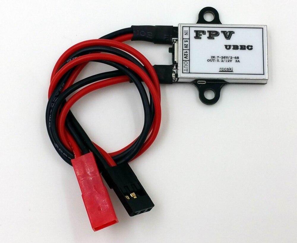 2-6 S 7-26 V Entrada/5.2 V 12 V 3a salida FPV ubec BEC transmisor módulo de potencia rccskj 5101 para FPV RC Drones