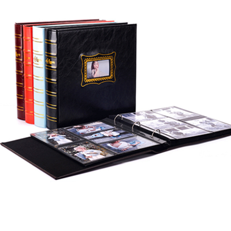 Five colors retro PU cover 6 inch large insert photo album 600 large capacity family baby