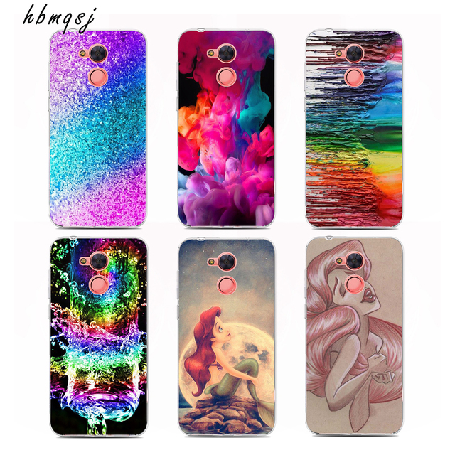 buy popular f5e8d ca87a Aliexpress.com : Buy Cartoon mermaid cute phone case for huawei ...