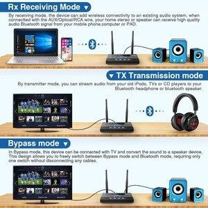 Image 3 - 262ft/80mLong menzilli NFC Bluetooth 5.0 verici alıcı müzik ses adaptörü APTX HD düşük gecikme Spdif RCA 3.5mm AUX TV PC için
