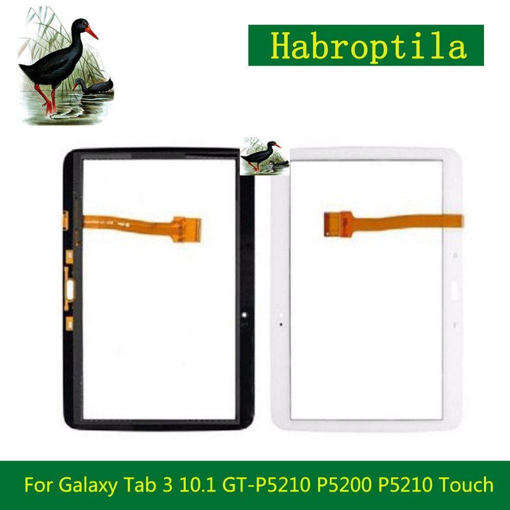 10.1 For Samsung Galaxy Tab 3 10.1 GT-P5210 P5200 P5210 Touch Screen Tablet Digitizer Sensor Front Outer Glass Lens Panel