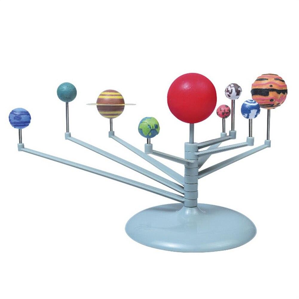 Educational DIY 9 Planet Solar System Building Toy Fun Kids Students Handwork font b Science b