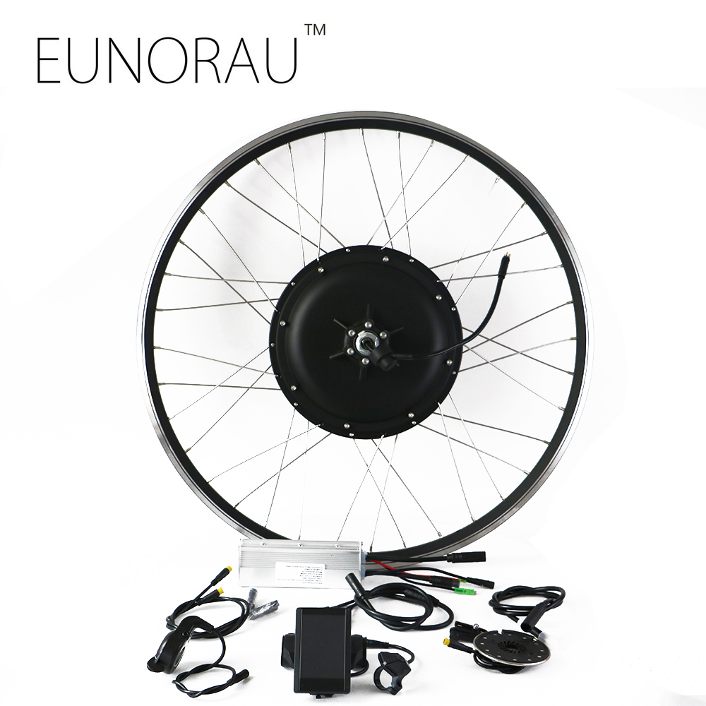 Free shipping LCD system waterproof brushless Non gear hub motor rear wheel 48v 1000W electric bike kit with 26/27.5/28inch rim