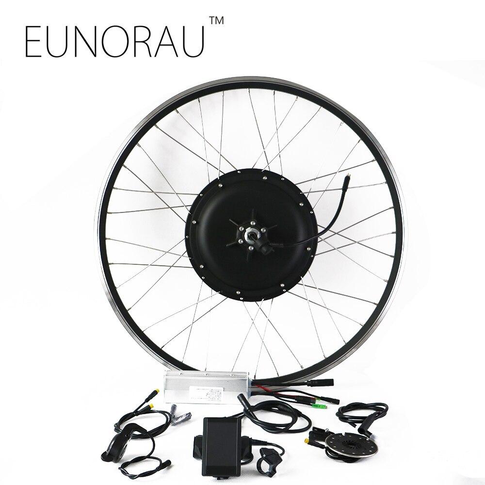 Livraison gratuite système LCD étanche sans balais sans engrenage moyeu moteur avant/arrière roue 48 v 1000 W kit de vélo électrique