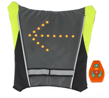 Motorcycle Reflective Safety Vest LED Backpack
