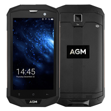 "AGM A8 5.0"" HD IP68 4050mAh 4G Smartphone 4GB + 64GB Waterproof Android 7.0 Qualcomm MSM8916 Quad Core Mobile Phone 13MP NFC"