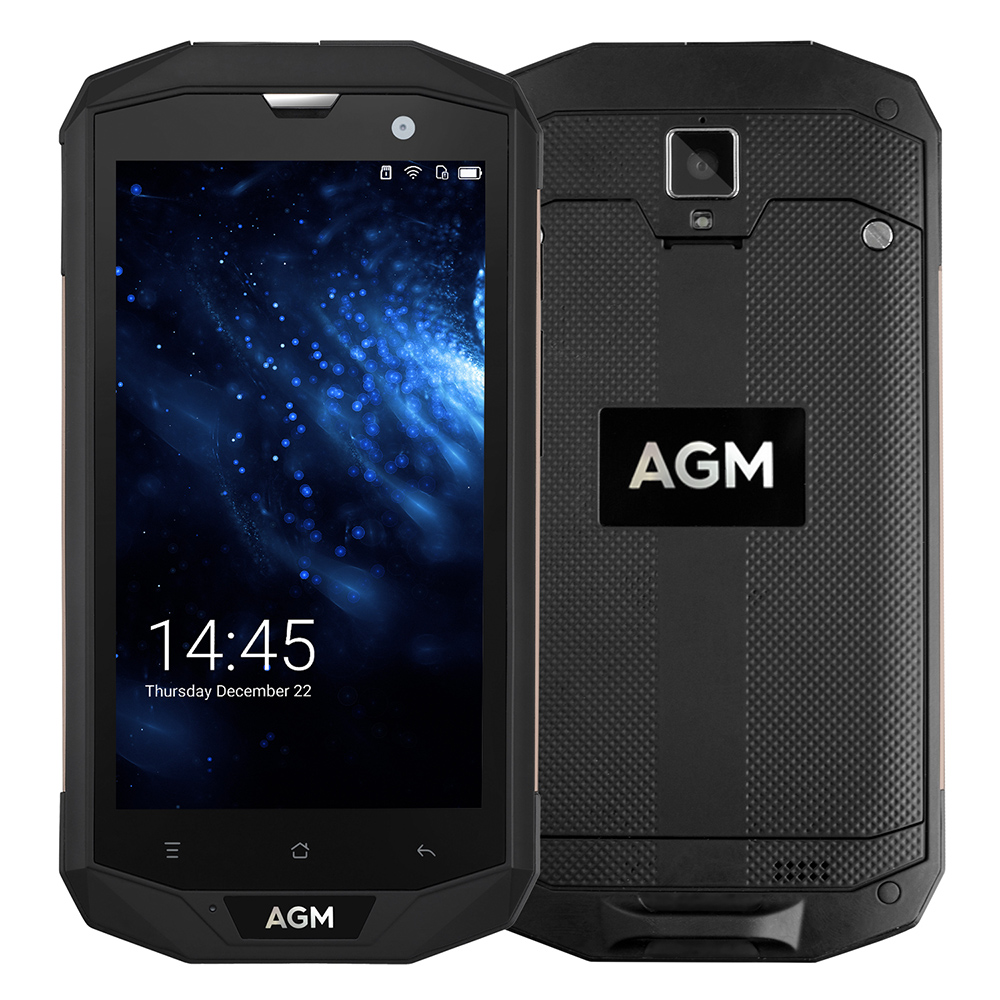 AGM A8 5.0'' HD IP68 4050mAh 4G Smartphone 4GB + 64GB Waterproof Android 7.0 Qualcomm MSM8916 Quad Core Mobile Phone 13MP NFC