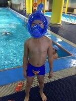 Kids Full Face Snorkeling Diving Mask Anti Fog Child Swim Snorkel Mask Children Scuba Mergulho Maske Study Swimming Equipments