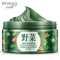 BIOAQUA Wild Vegetable Mask Fresh Moisturizing Mud Mask skin care Oil Control remove Acne deep Cleansing Mask Firm To Blackhead