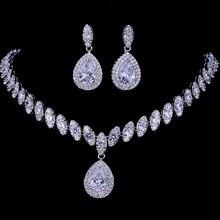 Emmaya Gesimuleerde Bridal Sieraden Sets Zilver Kleur Ketting Sets 4 Kleuren Bruiloft Sieraden Parure Bijoux Femme