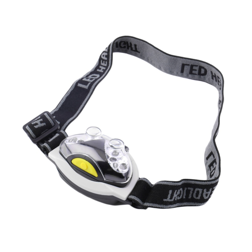 Black & White Waterproof Ultra Bright 6 LED Head Lamp Light Torch Headlamp Headlight 3 Modes for Camping Outdoor 2017 Top Sale