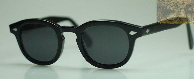 Vintage Polarized Sunglasses Mens Brand New Depp Eyeglasses Frames Black Lenses 100%UV400 Sun Glasses High Quality