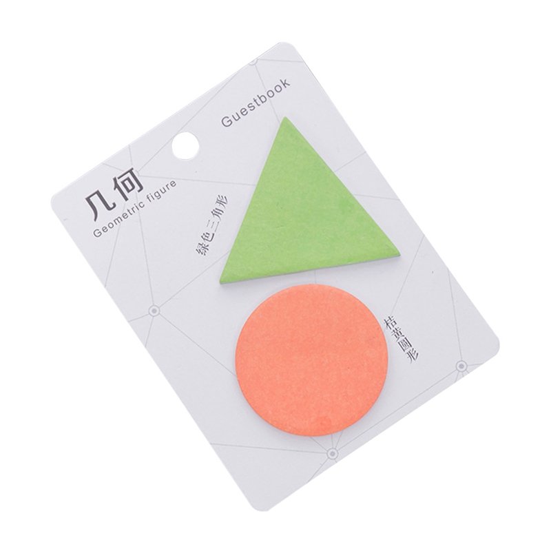 1PCS kawaii Geometric shape Color message notes Sticky Notes Post Memo Pad Korean stationery School Supplies Planner Stickers