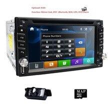 Nuovo! Touch screen 2Din In Dash Car DVD Player GPS Universale Stereo Radio BT USB Mirrorlink RDS 1080 P + Trasporto libero mappa card + macchina fotografica Libero